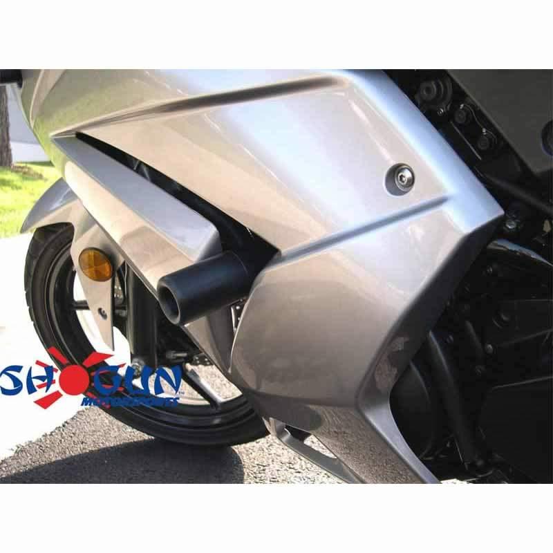 Ninja 250R 08-12 NO CUT Black Frame Sliders - Moto911.com