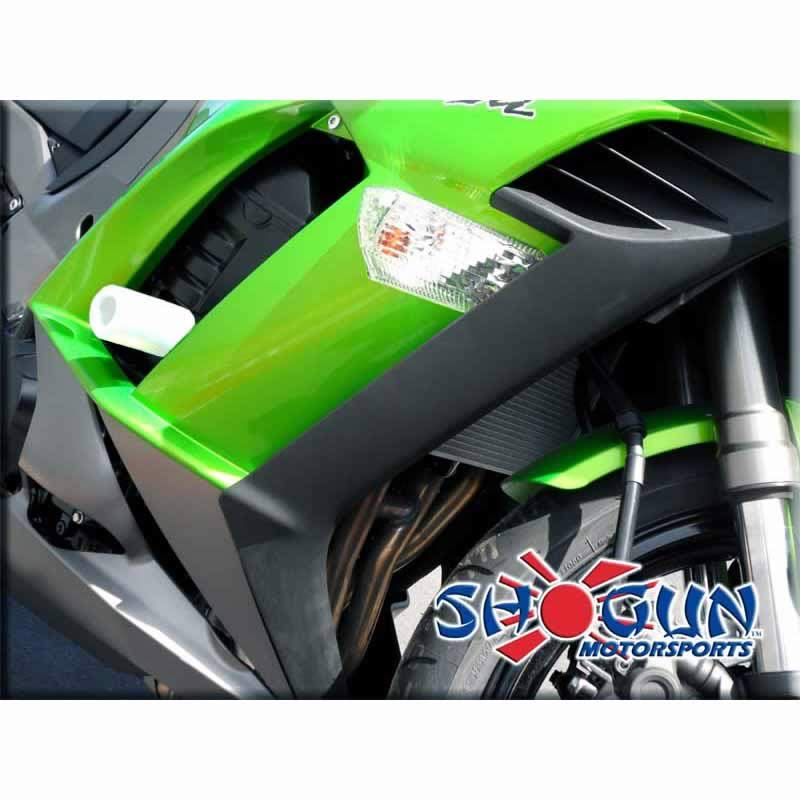 Ninja 1000 11-16 No Cut White Frame Sliders - Moto911.com