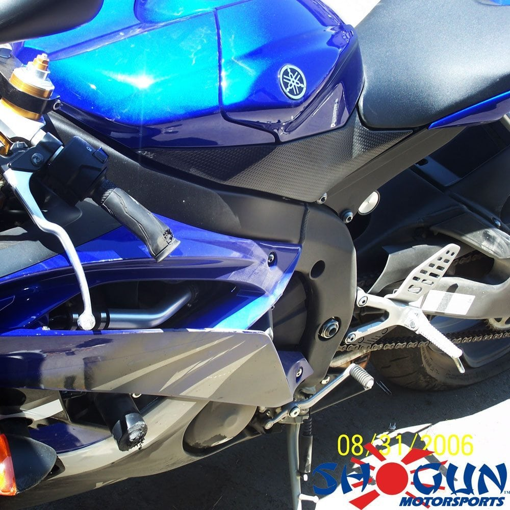 Yamaha R6 08-16 No Cut Black Frame Sliders Crash Photo