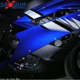 Yamaha R6 08-16 No Cut Black Frame Sliders Crash Photo
