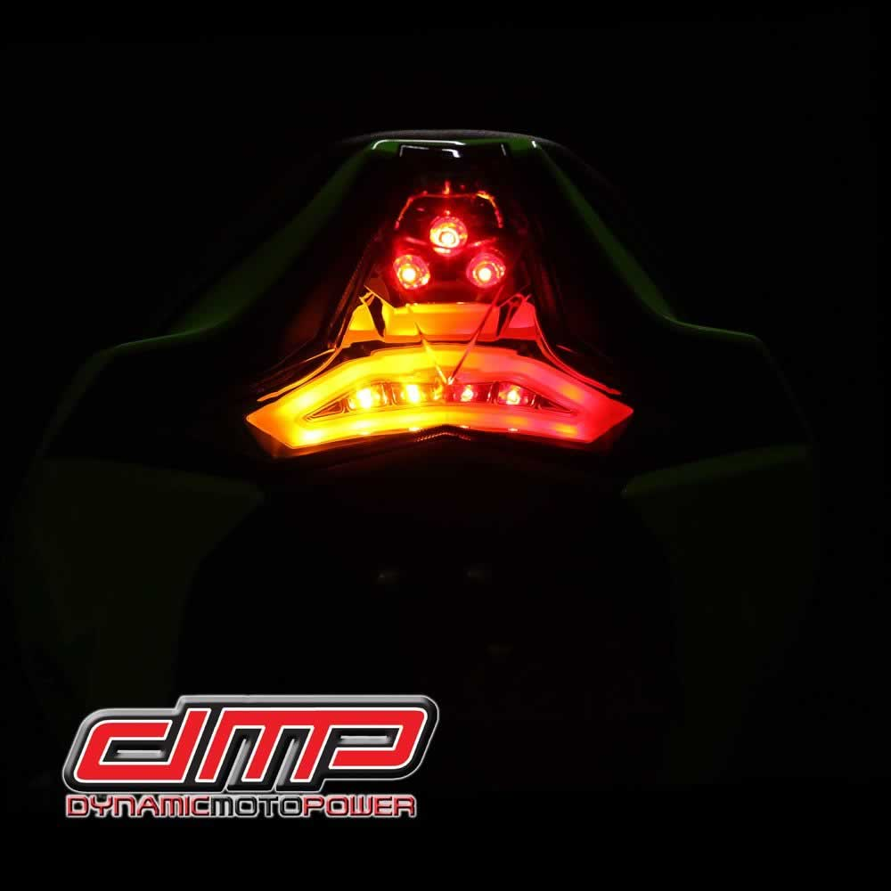 Part Shop Glow Tail Lights: ZX10R/RR 16-19 Integrated LED Clear Tail Light