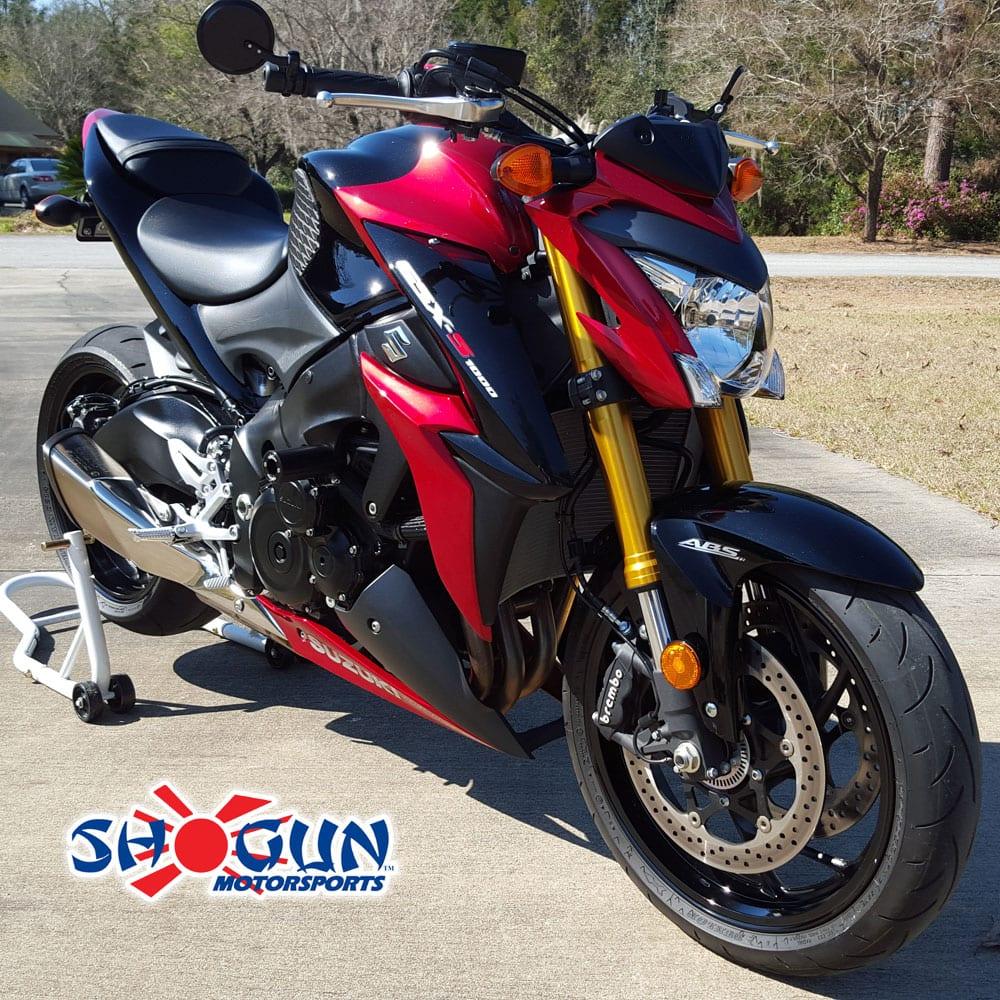 750-5800 MADE IN THE USA Shogun Suzuki GSXR1000 GSXR 1000 2003 2004 White No Cut Frame Sliders