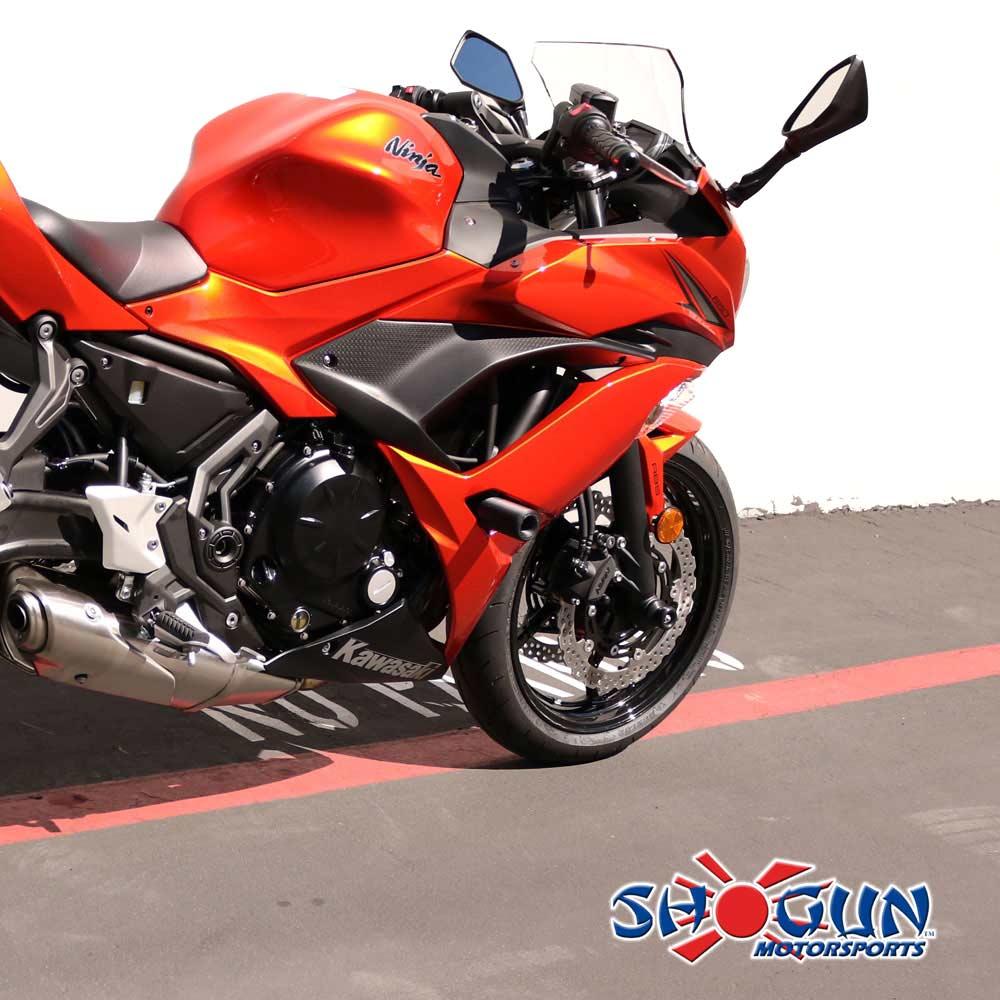 Ninja 650 17-18 NO CUT Black Frame Sliders - Moto911.com