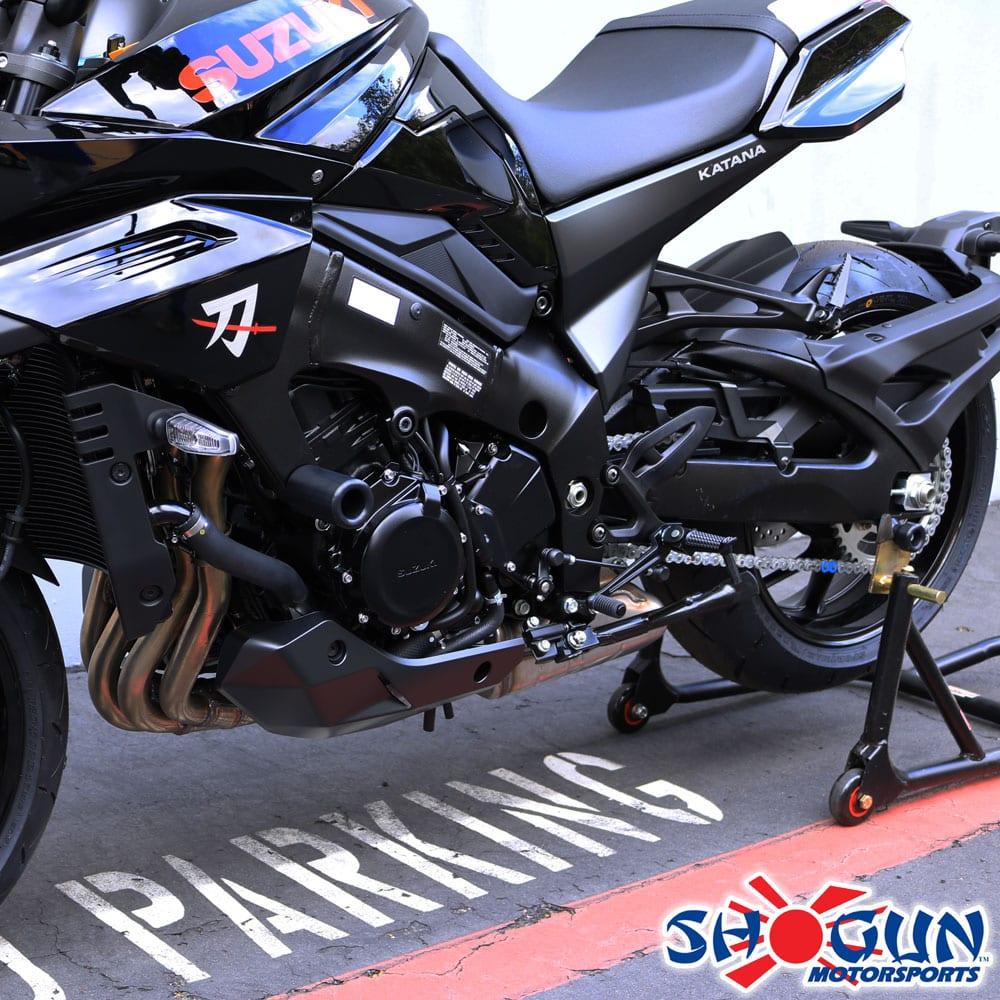Shogun Suzuki KATANA 1000 2020 Black NO CUT Frame Sliders Fits ABS /& NON ABS Models Made IN THE USA 750-5659